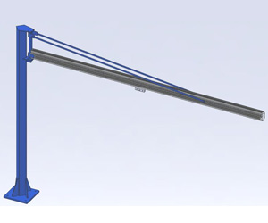 Jib Cranes: Pillar Style