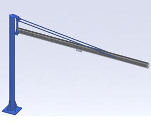 Jib Cranes: Pillar Style