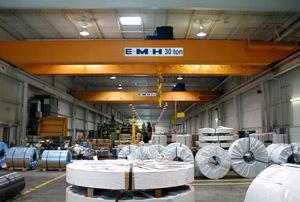 Double Girder Top Running Overhead Cranes | EMH, Inc