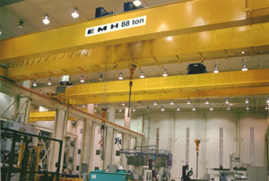 Emh Overhead Cranes In The Plastic Injection Mold Industry